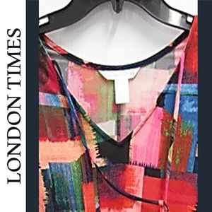 NWT LONDON TIME ABSTRACT SHIFT DRESS
